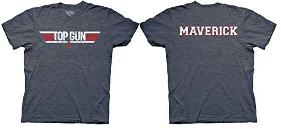 Amazon.com: Top Gun Logo and Maverick Name Adult Heather ...