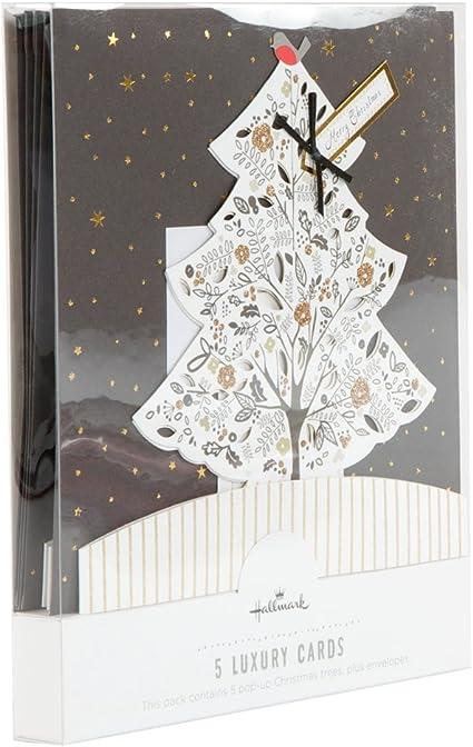 Hallmark 11439174 - Paquete de 5 tarjetas postales con motivo navideño, multicolor: Amazon.es: Oficina y papelería