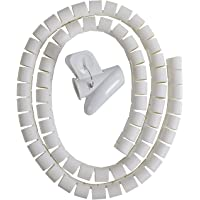 Cable Zipper Cord Organizer Wire Management White Color
