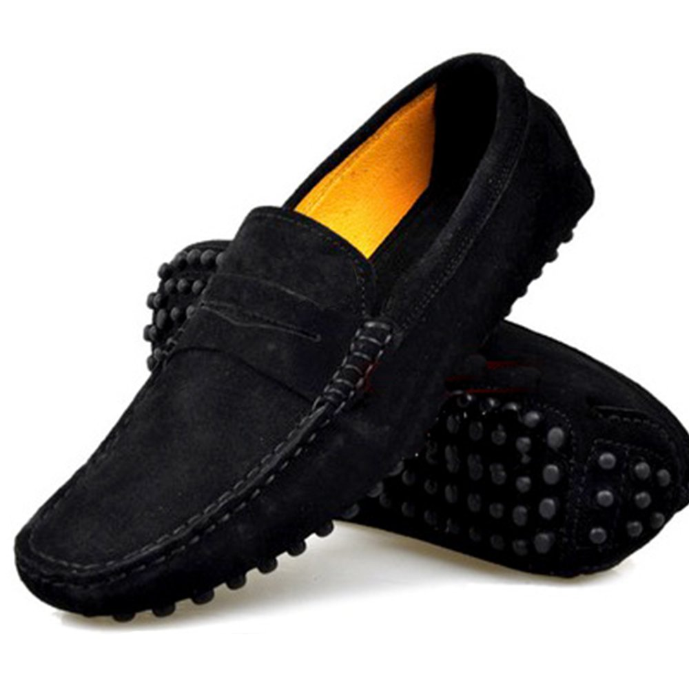 9 Color Size 5-12 New Genuine Suede Leather Driving Moccasin Flats Loafers Mens Shoes