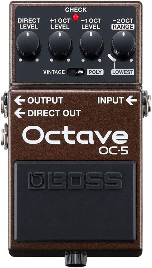 BOSS Pedal de efectos de guitarra y bajo OC-5 Octave con modos Vintage y Poly y cinco años de garantía