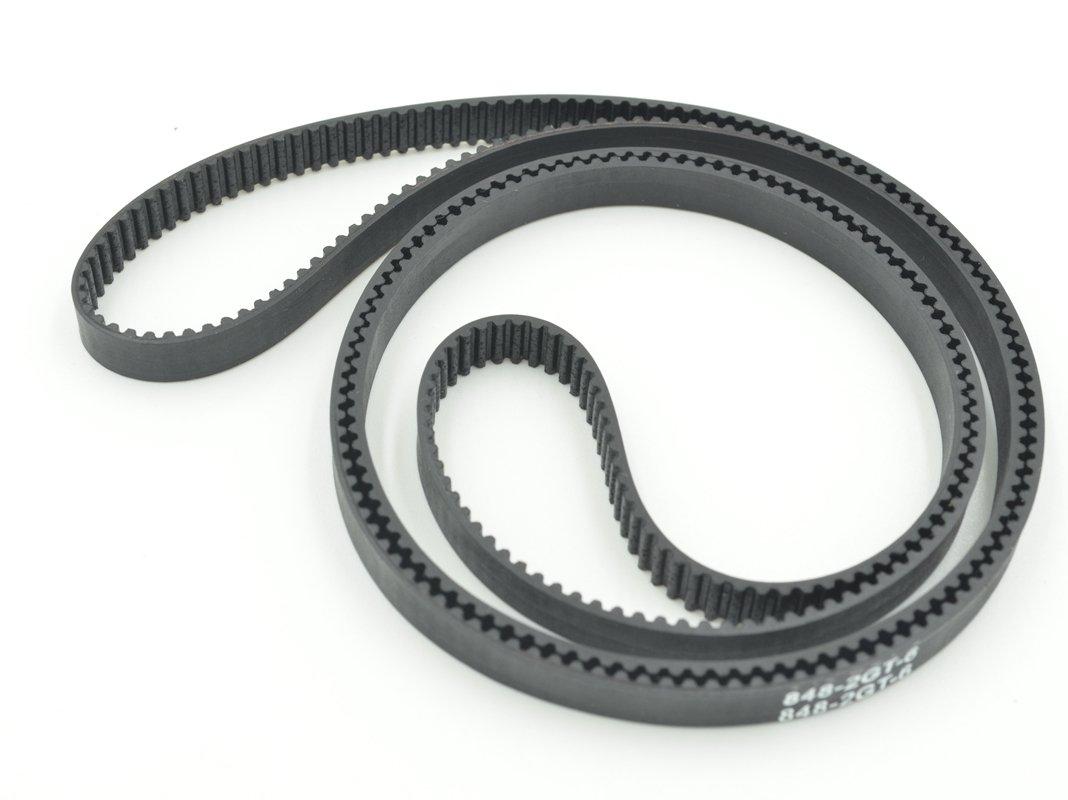 POWGE GT2 Timing Belt L=848mm W6=6mm 424 Teeth Color Black Pack in Closed Loop Of 10pcs