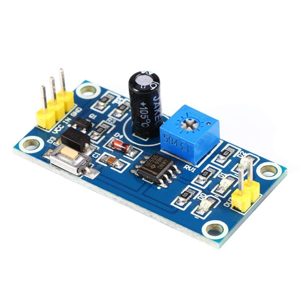 0-120s Time Delay Controller Board Delay Timer NE555 Adjustable Module On-Board Test Button 5-12V Delay Relay