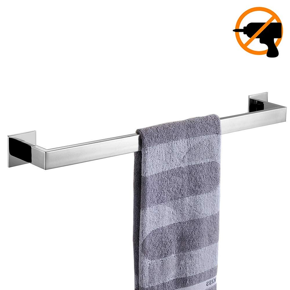 Homovater Chrome Toilet Roll Holder Self Adhesive SUS 304 Stainless Steel Toilet Tissue Paper Holder, withour Drilling