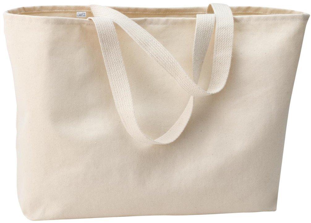 Joe's USA Jumbo Tote Bag a Sturdy 10-ounce Cotton Oversized Tote Bag