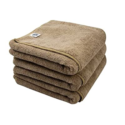 Chemical Guys MIC36203 Workhorse XL Tan Professional Grade Microfiber Towel, Leather & Vinyl (24 in. x 16 in.) (Pack of 3): Automotive