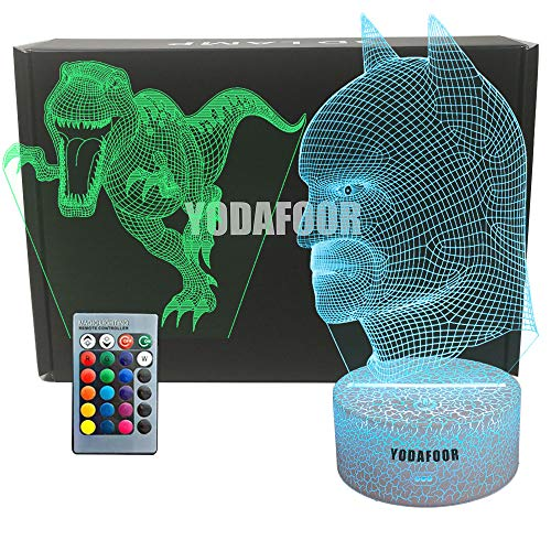 YODAFOOR Dinosaur Night Light Lamp Dinosaur Toy Gifts for Boys Teen Kids Birthday Halloween Christmas Gifts Nurcery Decor Lamp Bedroom Table Decoration (Dinosaur04)