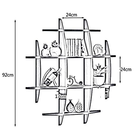 Amazon Com Zhirong Multifunction Wall Mounted Multi Shelf Storage
