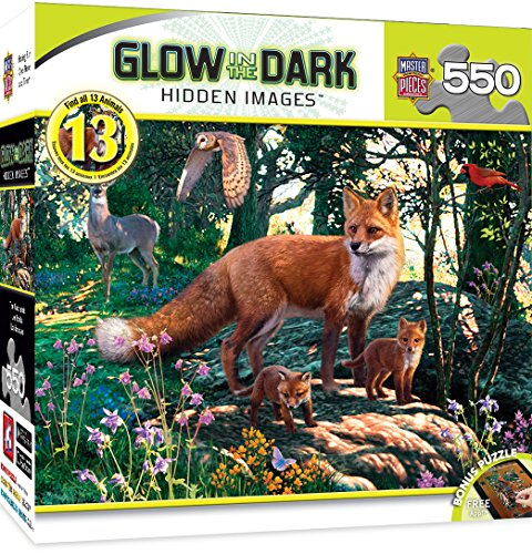 MasterPieces Glow-In-The-Dark Hidden Image The Woodlands Jigsaw Puzzle, 550-Piece