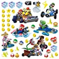 "RoomMates RMK2728SCS Mario Kart 8 Peel and Stick Wall Decals (Set of 4), 10"" x 18"""