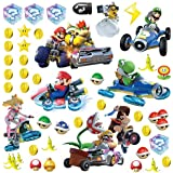"""RoomMates RMK2728SCS Mario Kart 8 Peel and Stick Wall Decals (Set of 4), 10"""" x 18"""""""