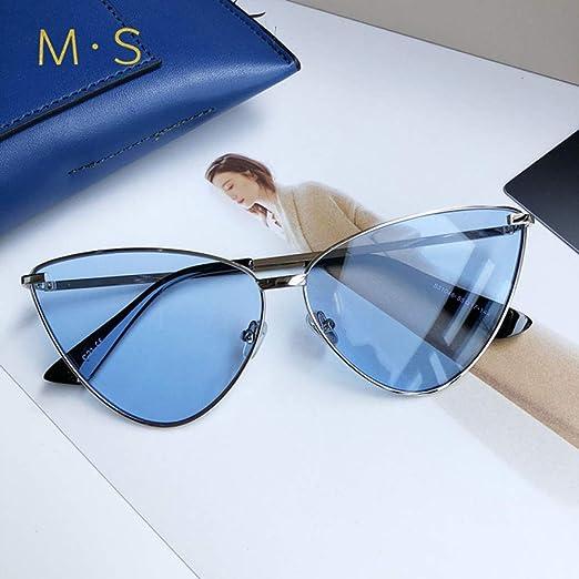 Yangjing-hl MS Gafas de Sol de Mujer Decoración Gafas ...