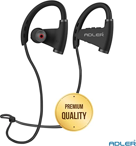Adler GX-710 Sweatproof Wireless Earphones Bluetooth 4.1 Exercise Earphones with Microphone Support Black Red
