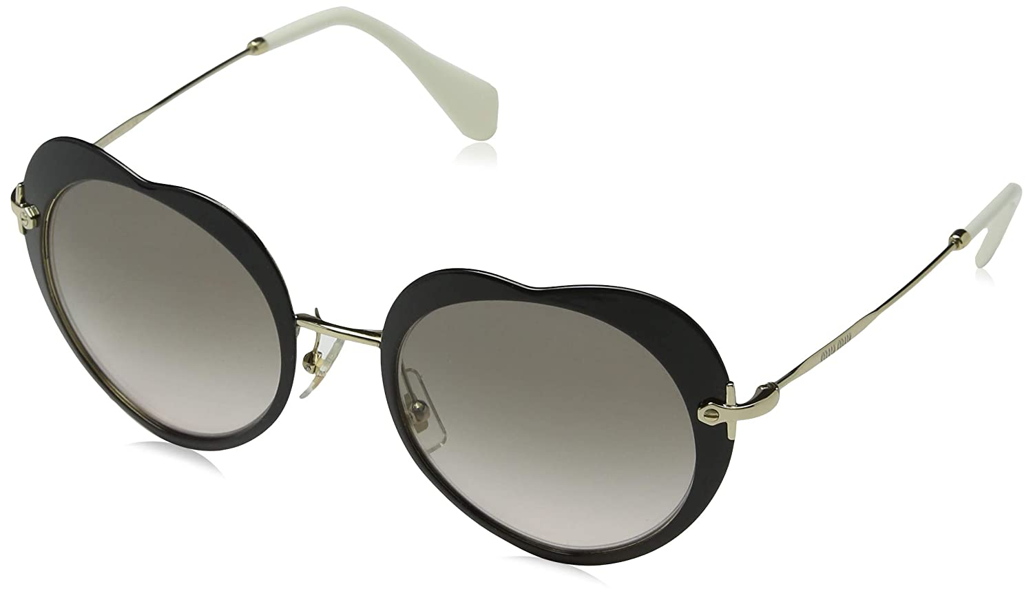059c4413c279 Amazon.com  Miu Miu MU54RS 1AB4K0 Black Gold MU54RS Round Sunglasses Lens  Category 2 Size  Miu Miu  Clothing