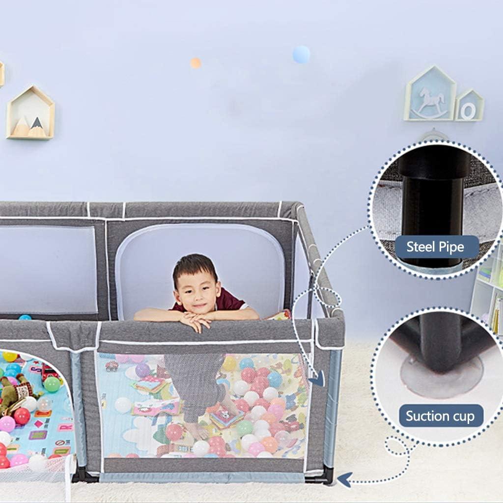 Cl/ôture de jeu pour Enfants Cl/ôture De Protection Int/érieure Jeu Lit Parc De Jeu Aire De Jeu Int/érieure Lit De Jeu Aire De Jeux pour Enfants Color : Gray, Size : 150x190x70cm