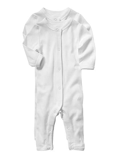 VERTBAUDET Lot de 2 bodies avec jambes bébé Bio Collection Blanc 18M - 81CM 7ebb0cec971