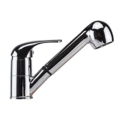 TANBURO Modern Commercial Single Handle Pull Out Sprayer Bar Kitchen Sink  Faucet Small Pull Down Kitchen
