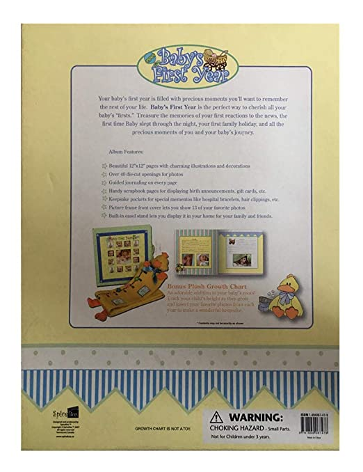 Amazon Babys First Year Keepsake Photo Album And Journal With