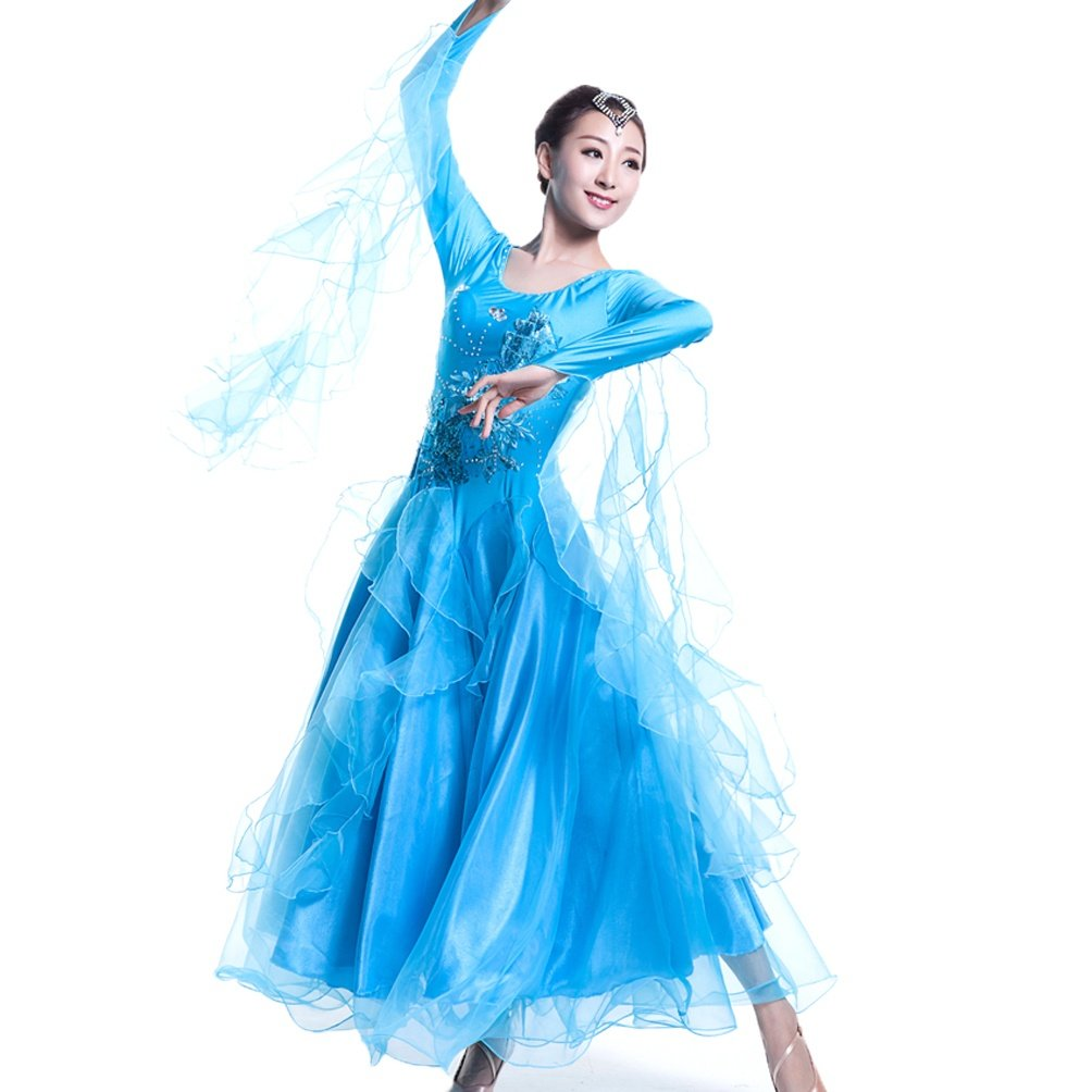 Ballsaal Tanzkleider Für Frauen Lange Ärmel Ärmel Ärmel Expansion Performance Rock Tango Walzer Modernes Tanzkleid Nationaler Standard Tanzkleidung B07JMBF2ZH Bekleidung Niedriger Preis 068d8a