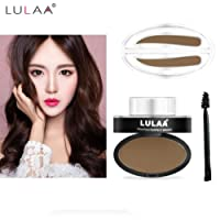Eyebrow Powder Makeup, Lookatool Natural Eyebrow Powder Makeup Brow Stamp Palette Delicated Shadow Definition (brown)