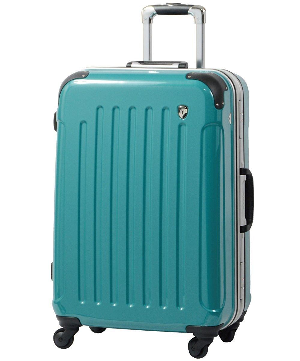 [グリフィンランド]_Griffinland TSAロック搭載 スーツケース 軽量 アルミフレーム ミラー加工 newPC7000 フレーム開閉式 B00T48GXM8 S(小)型|マラカイトグリーン(限定色) マラカイトグリーン(限定色) S(小)型