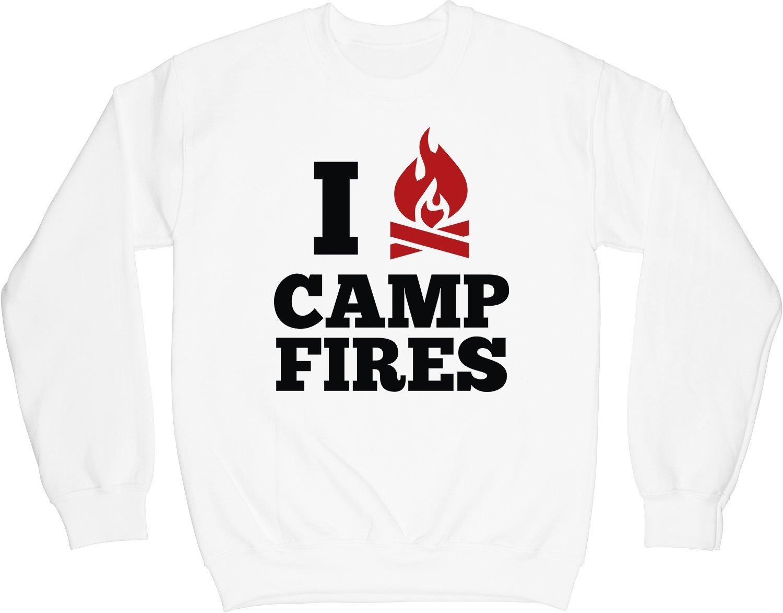 VectorPlanet I Love Campfires Unisex Sweatshirt, White XL