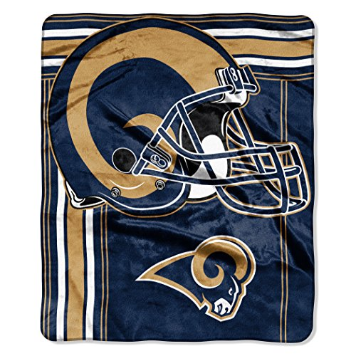 - The Northwest Company NFL Los Angeles Rams Touchback Plush Raschel Throw, 50
