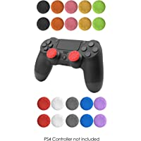 ThumbStick Grips Analog Silicone Rubber Caps Set – 20 Multicolor Joystick Pads for PS4, PS3, PS2, XBOX ONE, XBOX 360 Controllers EVORETRO