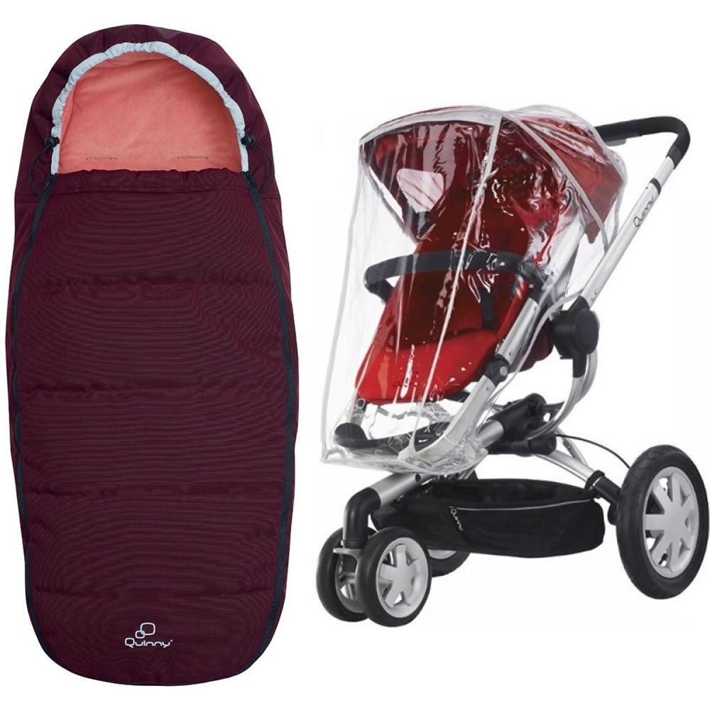 Quinny Buzz Footmuff With Buzz Weathershield in Pink Emily
