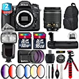Holiday Saving Bundle for D7100 DSLR Camera + AF-P 18-55mm + Flash with LCD Display + Battery Grip + 6PC Graduated Color Filter Set + 2yr Extended Warranty + 32GB Class 10 - International Version