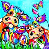 21secret 5D Diamond Diy Painting Full Drill Handmade Color Graffiti Cows Flowers Butterfly Cross Stitch Home Decor Embroidery Kit