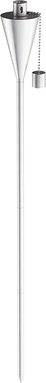 """Pure Garden 50-223 Outdoor Torch Lamp-46/"""" Patio//Backyard Stainless Steel Fuel Canister Flame Light for Citronella with Fiberglass Wick Adjustable Height"""