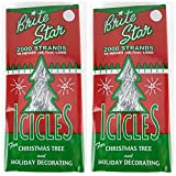 BRITE STAR Silver 18-Inch Icicle Tinsel - 2000 Strands (2)