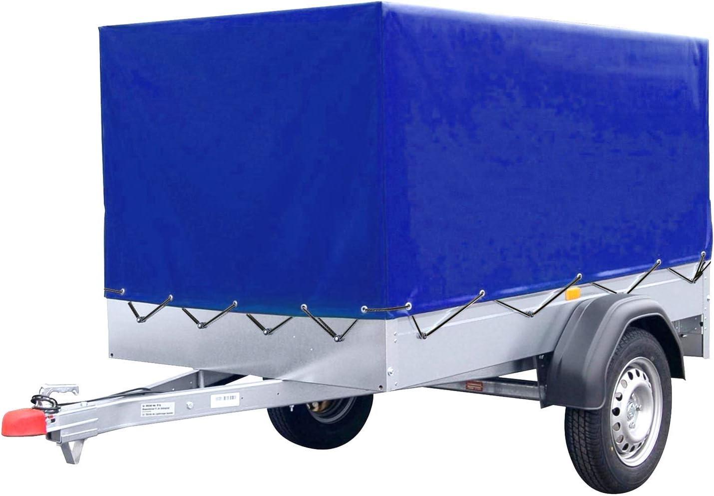 Fixkit Anhängerplane Blau Hochplane Mit Gummigurt 2100x1140x880 Mm Für Anhänger Auto