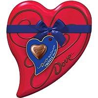DOVE Valentine's Milk Chocolate Truffles Candy Heart Gift Box 6.5-Ounce 18-Piece Tin