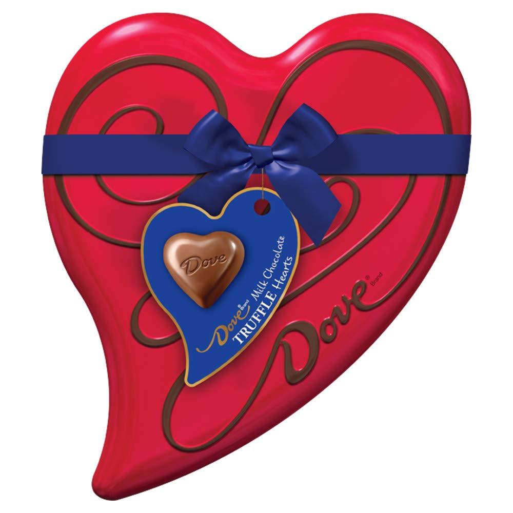Amazon Com Dove Valentine S Milk Chocolate Truffles Candy Heart Gift Box 6 5 Ounce 18 Piece Tin Grocery Gourmet Food