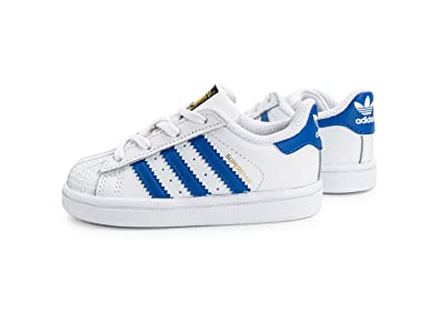 Zapatillas adidas - Superstar I Blanco/Azul/Blanco: Amazon.es: Zapatos y complementos