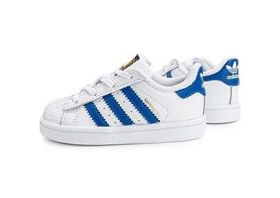 adidas Chaussures Superstar I Blanc/Bleu/