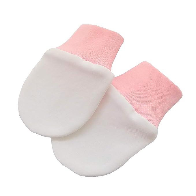 Manoplas de algodón orgánico de punto elástico para bebé recién ...