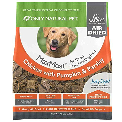 Only Natural Pet MaxMeat Holistic Grain-Free Air Dried Dry Dog Food - Made with Real Meat - Chicken with Pumpkin & Parsley 7.5 lb by Only Natural Pet