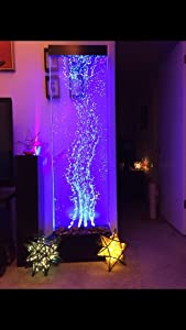 """Jersey Home Decor 72""""x19"""" XXL Dancing Bubble Fountain, Floor Standing, Color Lights/Remote Ctrl"""