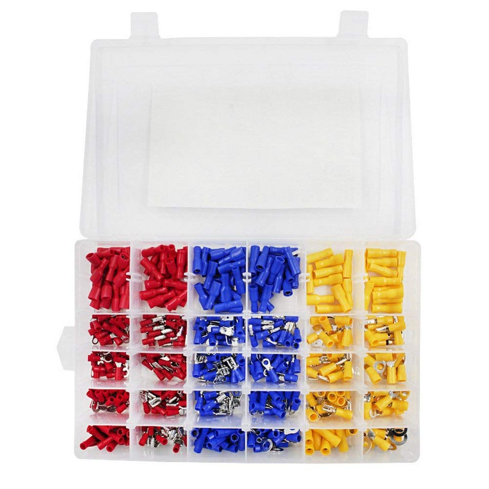 Cold-Pressed Terminal 360PCS Set Insulated Crimp Terminal Block Boxed Electrical Wire Connectors Copper