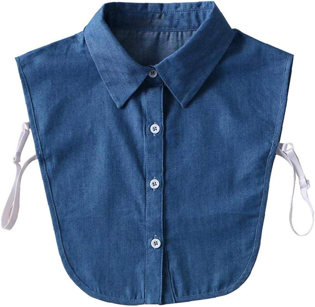 Desmontable Falso Cuellos De Camisas De Cuello De Mujeres De La Blusa De La Solapa De Falsos Top De La Blusa De Mujeres: Amazon.es: Ropa y accesorios