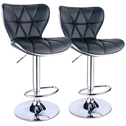 Amazon Com Leopard Shell Back Adjustable Swivel Bar Stools Pu