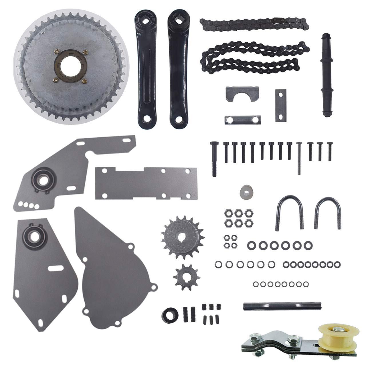 JRL Silver Shifter Jackshaft Kit Chain Tensioner 415 Chain 66cc 80cc Gas Motorized Bike