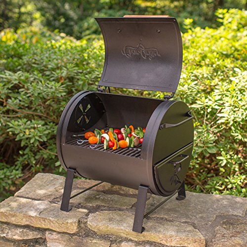 Smoker Grill Combo BBQ Time Firebox Table Top Outdoor Tailgate Camping Sports Events Heavy Duty by Smoker Grill Combo