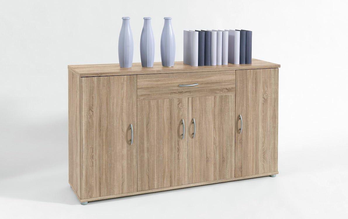 Bega Stella Trading Lilly 13 - Cómoda (Roble Sonoma, 4 Puertas, 1 cajón, 118 x 70 x 30 cm): Amazon.es: Hogar
