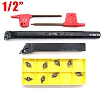 Carbide Insert T8 Wrench S12M-SDUCR07 12mm Lathe Boring Bar Turning Tool Holder