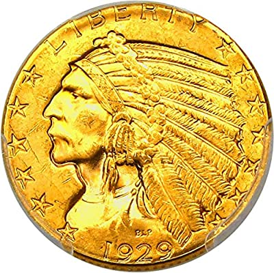 1929 P $5 Indian Gold Five Dollar MS64 PCGS+\CAC