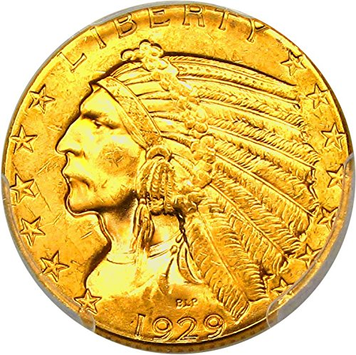 1929 P $5 Indian Gold Five Dollar MS64 PCGS+\CAC (David Lawrence Rare Coins)